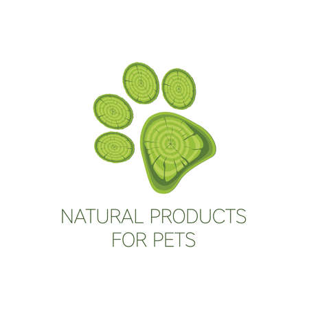cat footprint: Icon kind of products for animals. EPS 10.
