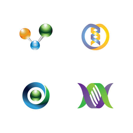 Résumé icônes ADN. EPS 10.