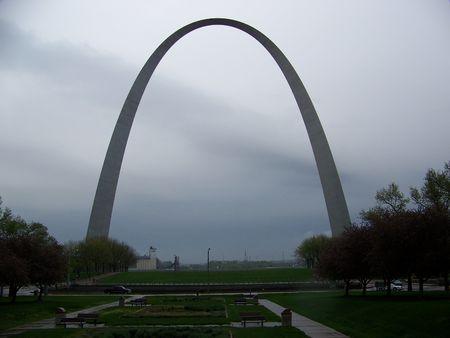 630 ft tall gateway arch in Saint louis Missouri