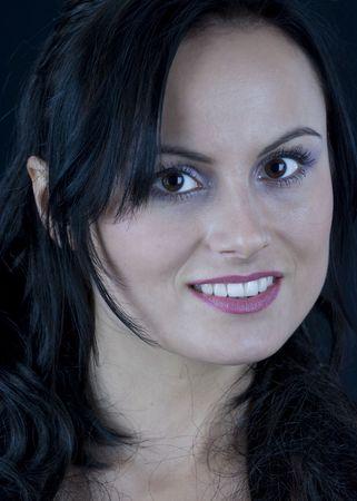 Beautiful  brunette woman in portrait