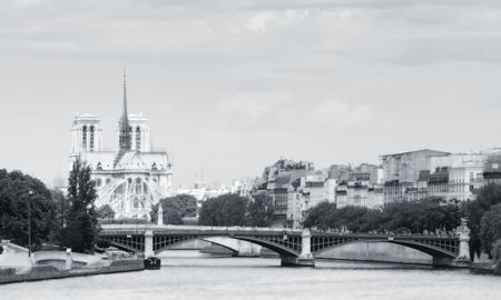 Notre Dame and the River Seine in Paris France
