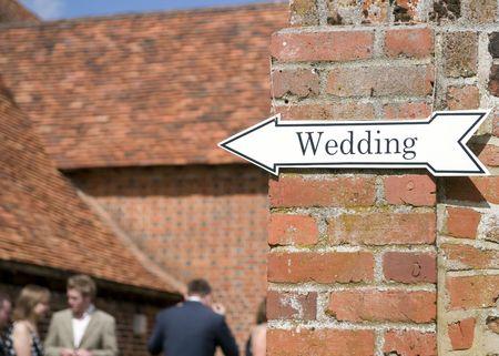 venue: Sign at a wedding venue