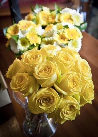 Bright yellow wedding flowers