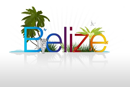 tourism in belize: High Resolution graphic of Belize