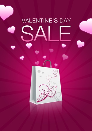High resolution promotional Valentines Day Sale graphic  photo