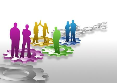 behavior: Alta resoluci�n negocio equipo la permanente gr�fico en engranajes.