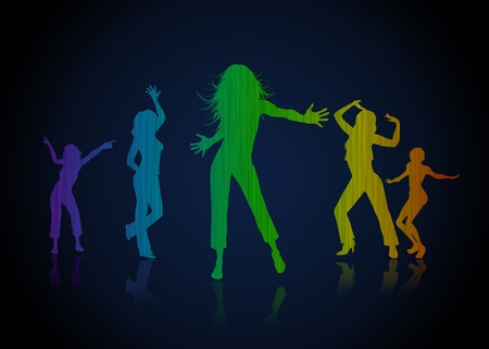 dancing club: High resolution promotional graphic of dancing girls