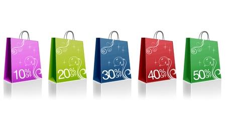 outlets: Gr�fico de alta resoluci�n de bolsas de valores de color de descuento.