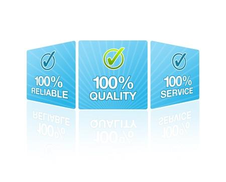 High resolution graphic 100% customer satisfaction. Stock Photo - 8715052