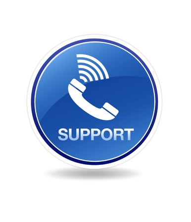 High resolution graphic of a support icon with telephone.