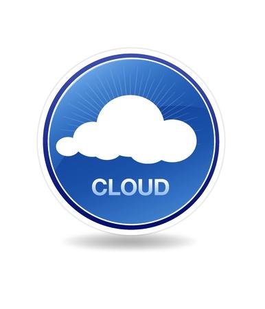 web service: Gr�fico de alta resoluci�n de un icono de la nube. Foto de archivo