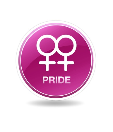 gay girl: High resolution graphic icon of a homosexual female symbol.