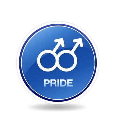 discreto: Icono gráfico de alta resolución de un símbolo hombre homosexual. Foto de archivo