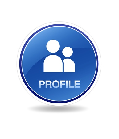 High resolution graphic of a Profile Icon.  Stock Photo - 8715064