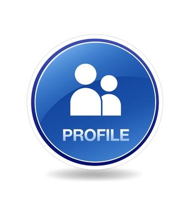 profil: Hochaufl�sende Grafik ein Profil-Symbol.