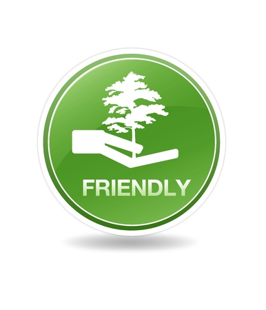 High resolution eco friendly icon with tree. Stock Photo - 8715069