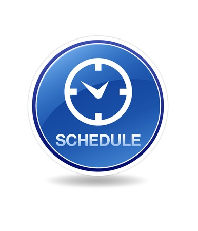 High resolution schedule icon with clock.  photo