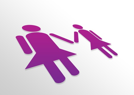 High resolution perspective graphic of a lesbian couple. photo