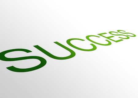 attainment: High resolution perspective graphic of success. Stock Photo