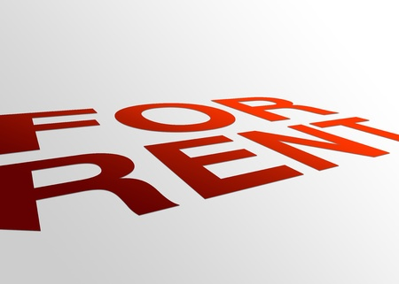 High resolution perspective graphic of a for rent sign. Stock Photo - 8715103