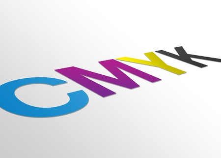 High resolution perspective graphic of CMYK Stock Photo - 8715099