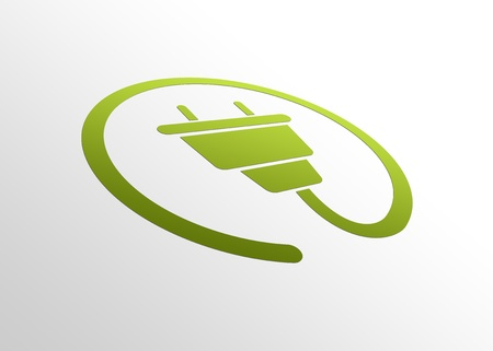 green environment: High resolution perspective graphic of Energy Sign.
