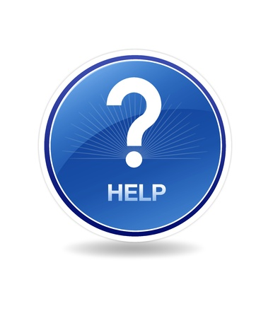 High resolution graphic of a help icon with  question mark. Stock Photo