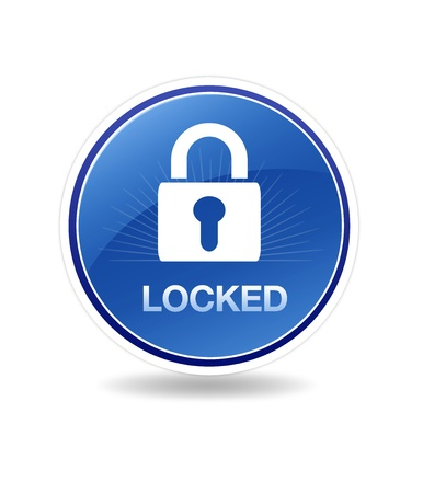 High resolution graphic of a locked icon with a lock. Stock Photo - 8773484