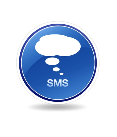 High resolution graphic of a sms icon with speech bubbles.
