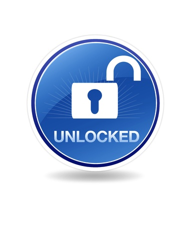 security icon: High resolution graphic of a unlocked icon with a lock.