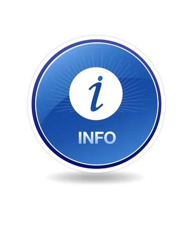 High resolution graphic of an info icon with info sign. photo