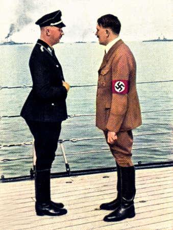 adolf hitler: Rare German vintage cigarette card from ca. 1933 Der Staat der Arbeit und des Friedens album.