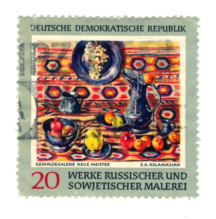 east of germany: EAST GERMANY - CIRCA 1969: East German stamp showing russian paintings, circa 1969.