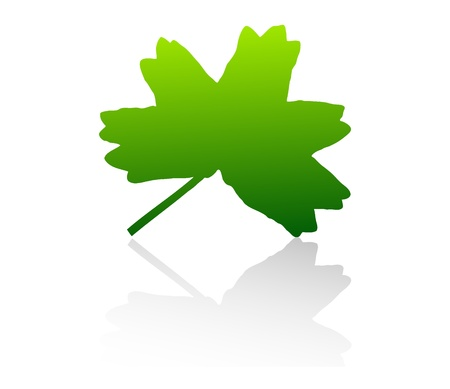 scalable: Isolated green vector leaf on white background.