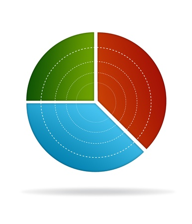 High resolution business pie chart on white background. photo