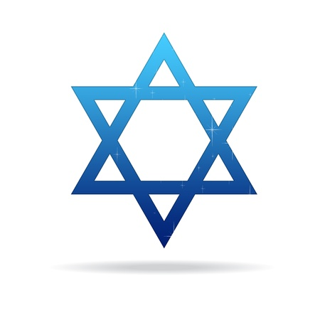 High resolution star of david on white background.