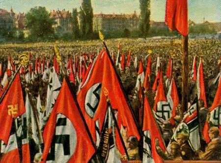 adolf: CIRCA. 1933: Rare German vintage cigarette card from ca. 1933 Kampf ums Dritte Reich album.