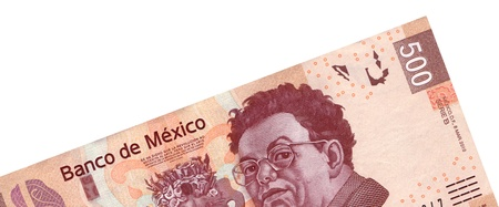 bankroll: High Resolution picture of a $500 Pesos bank note