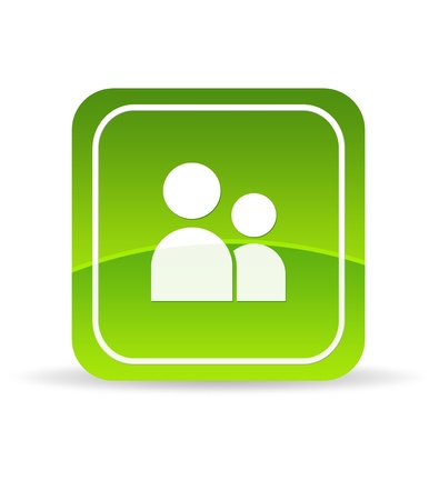 High resolution green profile icon on white background. Stock Photo - 9750068