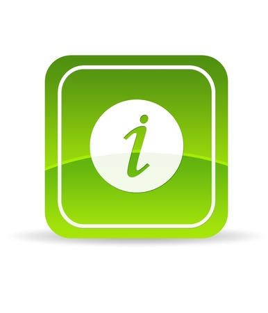 High resolution green information icon on white background. Stock Photo