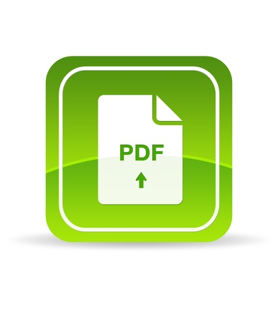 High resolution green pdf icon on white background. photo