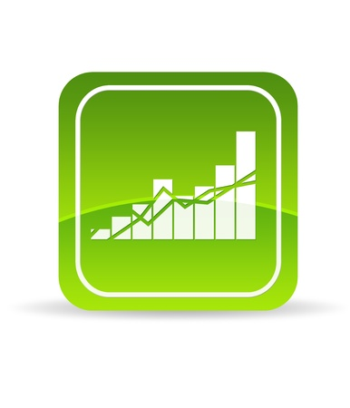 High resolution green Profit Chart Icon on white background. photo