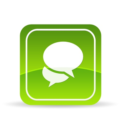 High resolution green Social Media Icon on white background. photo