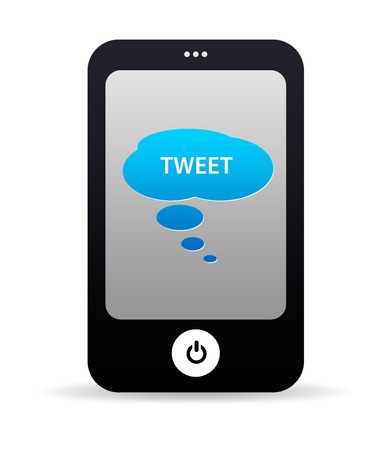 High resolution tweet mobile phone graphic. Stock Photo - 9750146