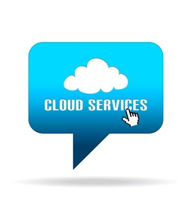 speech bubble: Graphique de nuage Services discours bulle de haute r�solution.