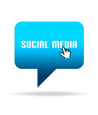 High resolution graphic of a Social Media Speech Bubble.