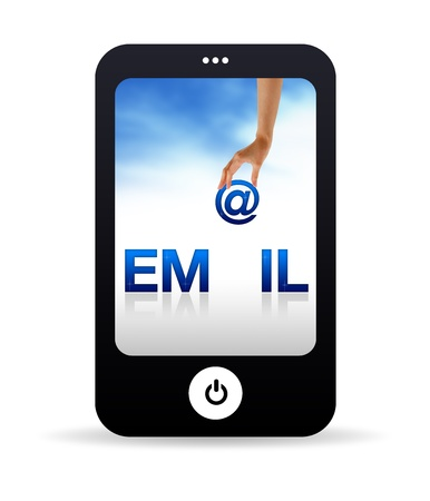 High resolution Mobile phone graphic with the word Email Stock Photo - 9836367