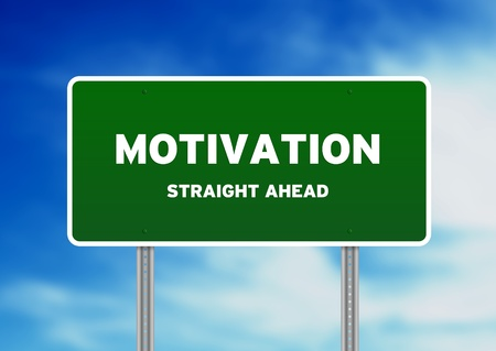 High resolution graphic of Motivation Street Sign on Cloud Background. Stock Photo - 9836312