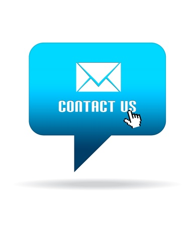 contact info: High resolution Contact Us Speech Bubble graphic.