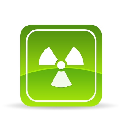 High resolution green radiation icon on white background. photo